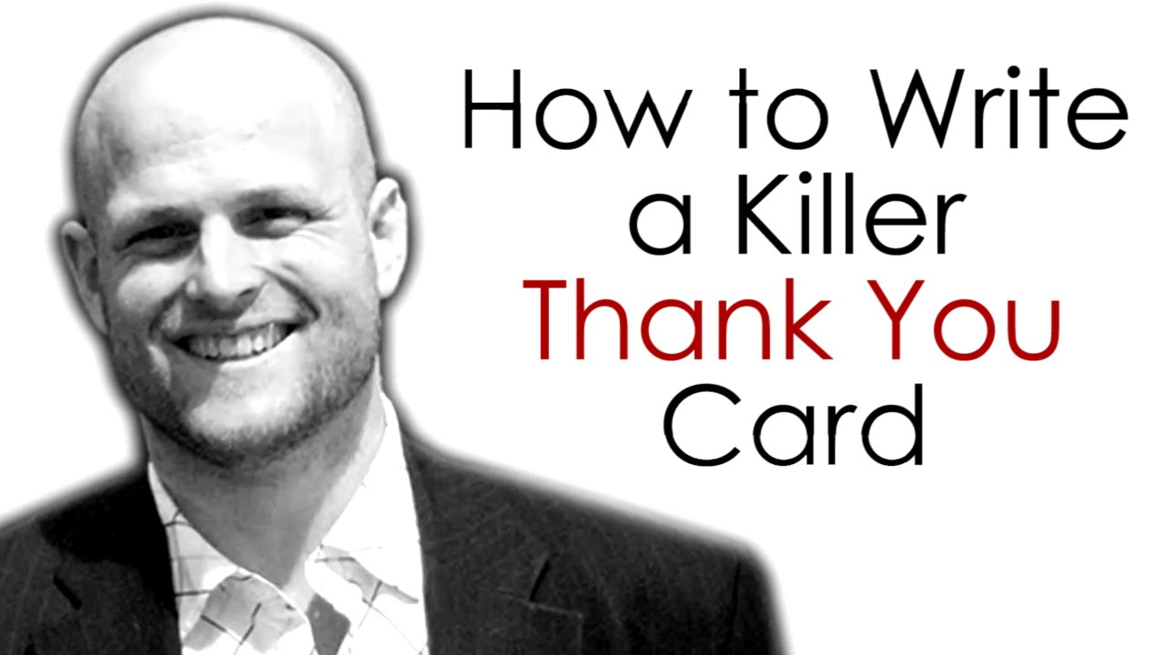 Real Estate Agents...How to Write a Killer Thank You Card - YouTube