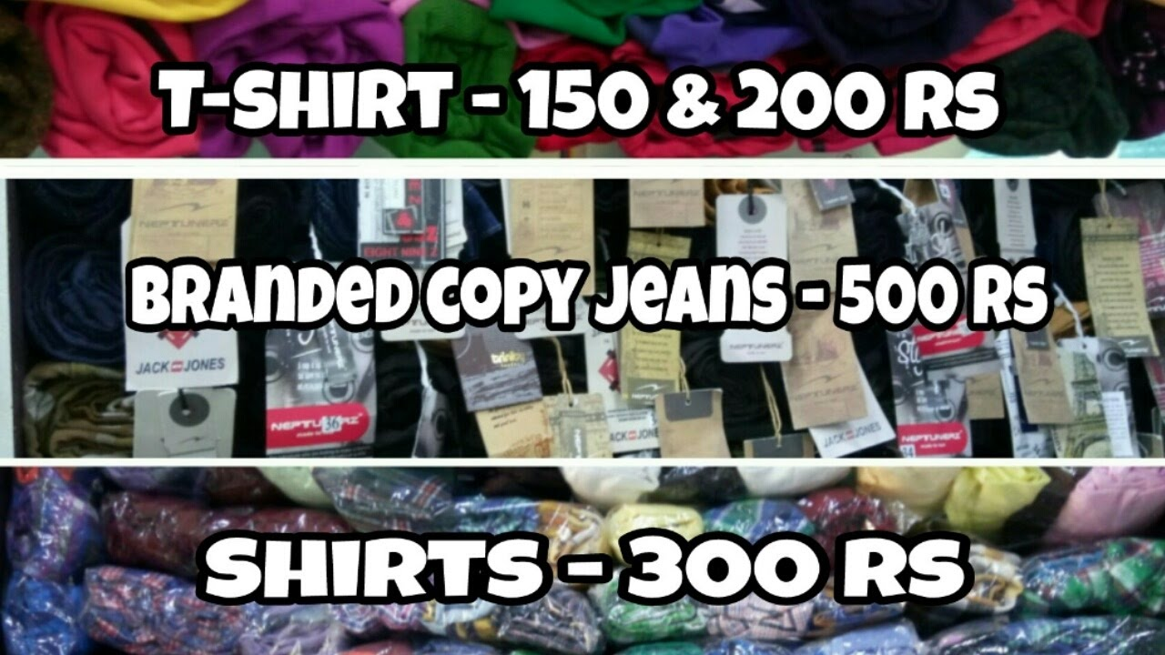 Branded copy jeans shirts t shirt in cheap rate nallasopara mumbai a k collection rajesh gaud