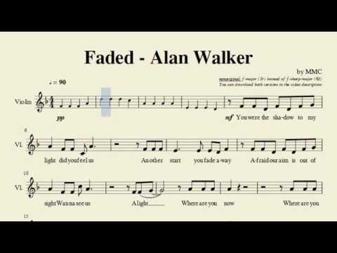 Alan walker notas violino