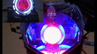 Cara Membuat lampu Ala Projie Angel Eye dari Senter LED
