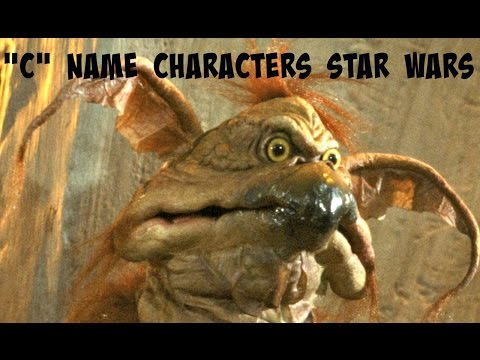 "All ""C"" characters in Star Wars A to Z characters list with images"