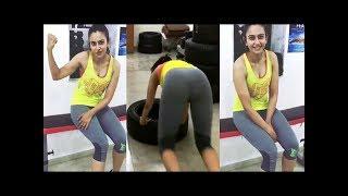 Rakul Preet Hot Workout At Gym