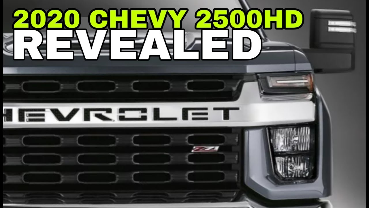 2020 Chevy Silverado 2500hd Revealed Youtube