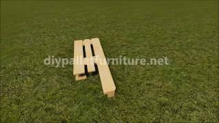 Instructions Of How To Make A Stool With Pallets