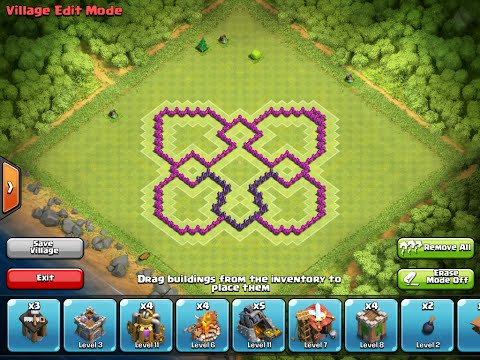 Town hall 7 bat base clash of clans th7 batman base hybrid art design