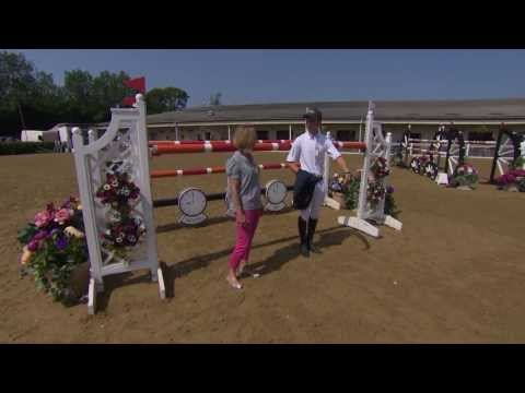 Showjumping -  Graham Gillespie does a course walk for the Grand Prix