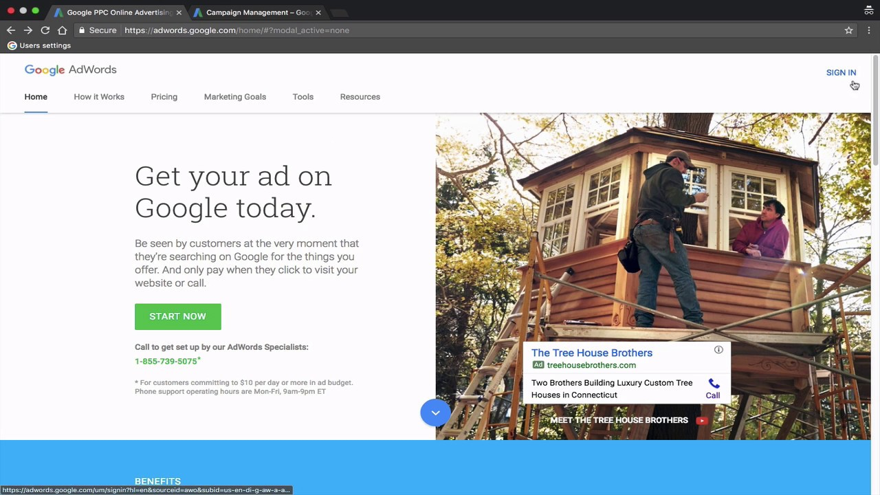 how to delete an adwords account