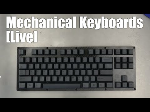 Mechanical Keyboards Live! - Carbon Fiber TKL build kit from 1upkeyboards (ALL BLACK EDITION)
