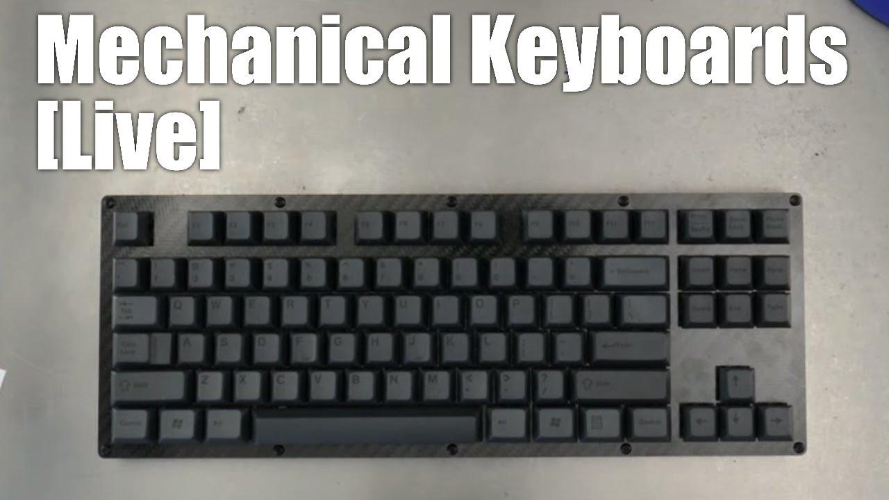 Mechanical Keyboards Live! - Carbon Fiber TKL build kit from