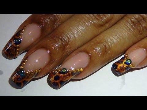 Navy Blue Gold Toe & Nail Art Design - YouTube