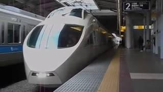 特急ロマンスカー「はこね29号」・海老名駅を発車