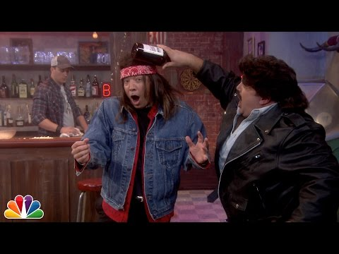 Slow-Motion Bar Fight with Kevin James and Jimmy Fallon