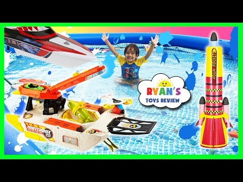 Thumbnail: Giant Kid Pool Disney Cars Water Gun Fight RC Boat MatchBox Squid Fleet Water Toys For Kids