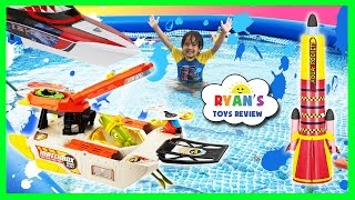 Giant Kid Pool Disney Cars Water Gun Fight RC Boat MatchBox Squid Fleet Water Toys For Kids