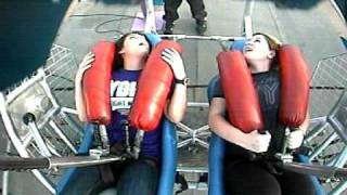 Repeat youtube video Girl wets her pants on the Sling Shot