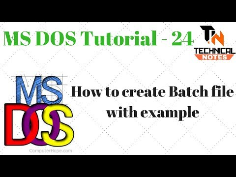 Batch File In Dos