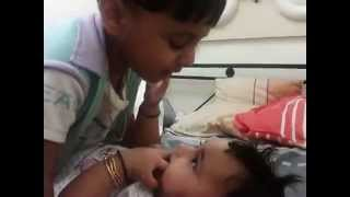 Unni vavavo 2year old singing to his baby