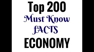 Top 200 Economy Facts (Hindi Medium) || SSC || IAS || PCS || Railway || Banking