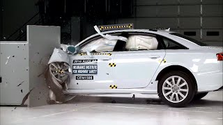 IIHS - 2016 Audi A6 - small overlap crash test / GOOD EVALUATION