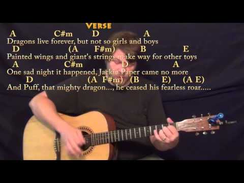 Puff the Magic Dragon - Strum Guitar Cover Lesson in A with Chords/Lyrics