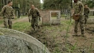 U.S. Soldiers Run Latvian Military Obstacle Course