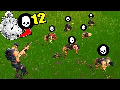 12 KILLS IN 40 SECONDS *RECORD* in Fortnite Battle Royale