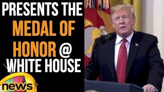 Donald Trump Presents the Medal of Honor at White House | Trump Latest Speech | Mango News