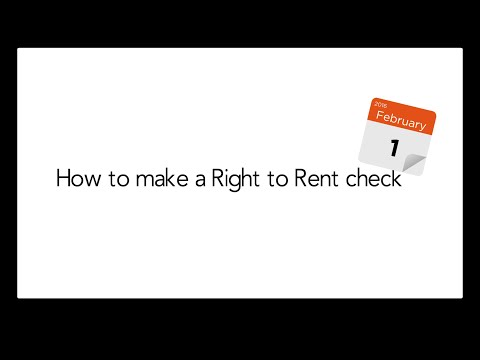 How to make a Right to Rent check
