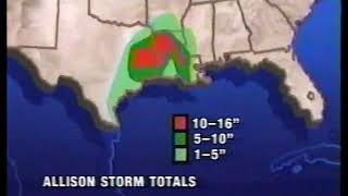 The Weather Channel - Tropical Storm Allison (1989)