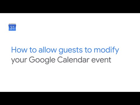 Allow guests to edit events in Google Calendar