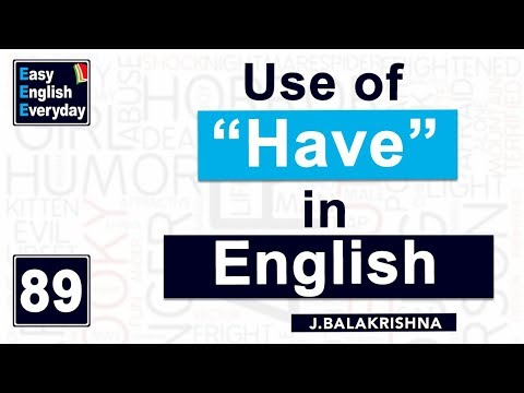 "How to learn English speaking in 10days| How to use ""Have"" in English 
