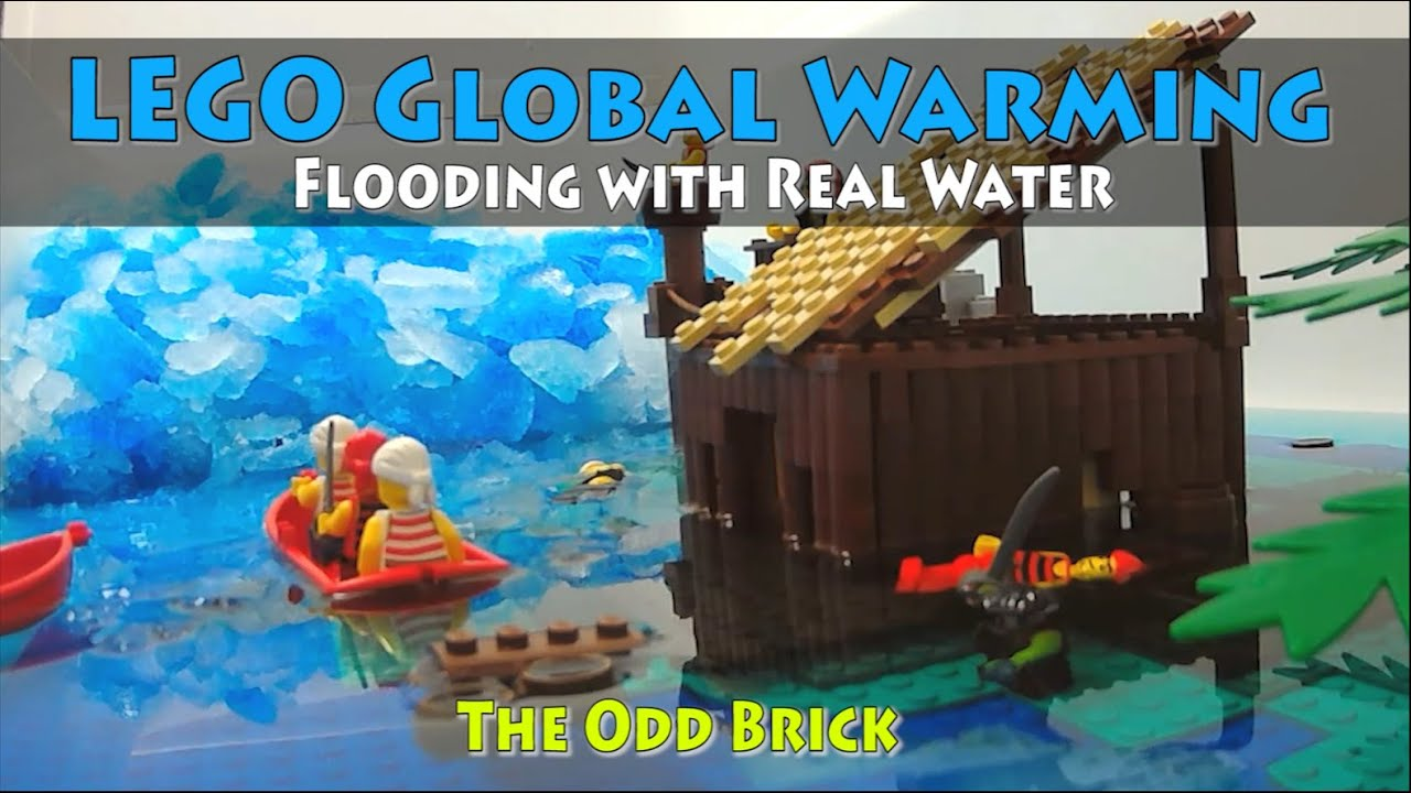 how to make a lego waterfall with real water