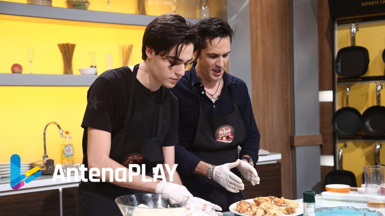 Ștefan Bănică Jr. și fiul lui, spectacol în bucătărie la Chefi la cuțite