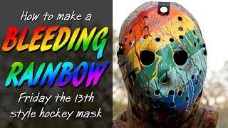 "How to Make a ""Bleeding Rainbow"" Style Jason Mask - Friday The 13th DIY"