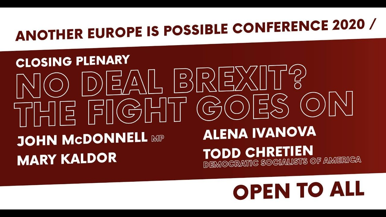 Another Europe is Possible: Conference final plenary (video)