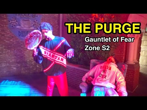 The Purge: Gauntlet of Fear Zone S2 - Halloween Horror Nights 2016 Universal Studios