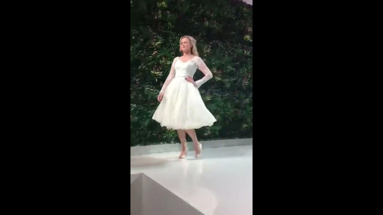 Short Tea Length Wedding Dress Catwalk Scene From Cutting Edge Brides BEXLEY Greater London