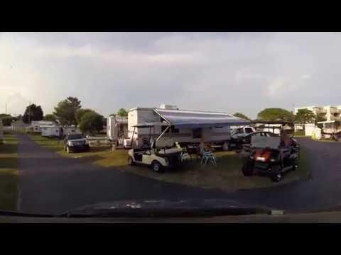 Emerald Isle, NC Trav L RV Park Drive Through Review