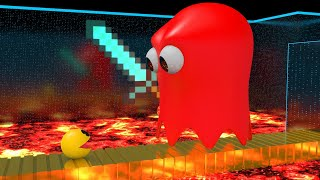 Pacman Maze Mayhem Madness - Giant Ghost kidnapped Ms. Pacman