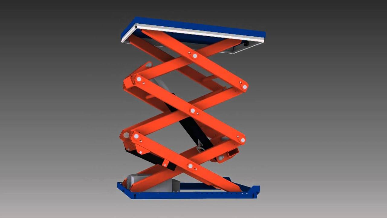 Lift Tabel Tmt 1500 Vertical Double Amp Triple Scissor