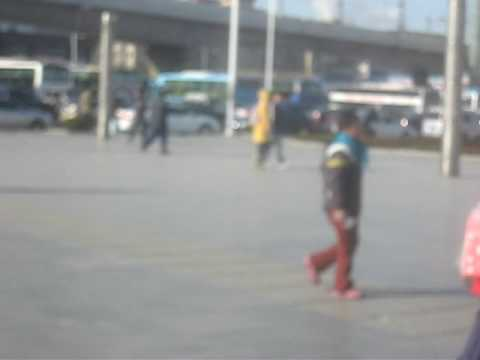 Little Girl Begging for Money, Dalian, China