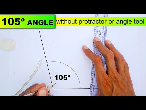 Drawing 105 degree angle without protractor or angle tool