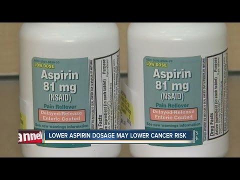 Lower Aspirin dosage may lower cancer risk