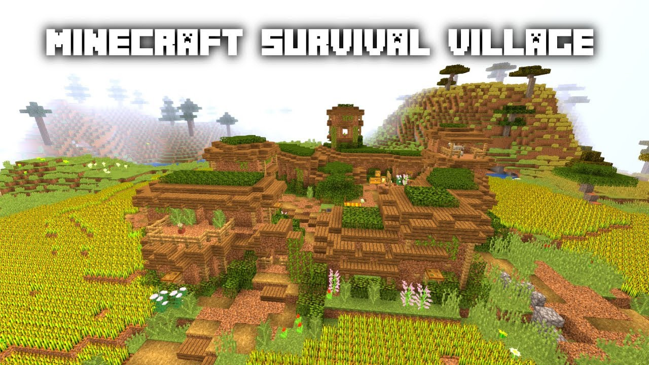 Minecraft How To Build A Dirt Survival Village Tutorial [WORLD DOWNLOAD]