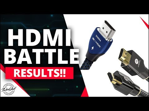Amazon HDMI Vs AudioQuest HDMI A/B Test Results!