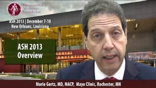 ASH 2013: Dr. Morie Gertz