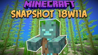One of xisumavoid's most viewed videos: Minecraft 1.13 Snapshot 18w11a New Drowned Underwater Hostile Mob & Shipwrecks (Update Aquatic)