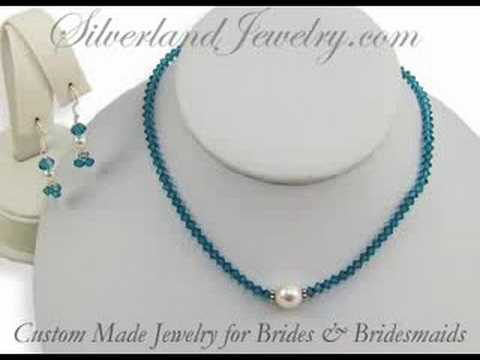 Stunning crystal bridal jewelry gifts for the wedding party