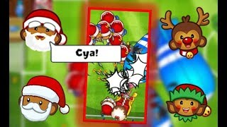 CHRISTMAS DART MONKEY SKINS! I Died To Yellows AGAIN!? :/ - Bloons TD Battles