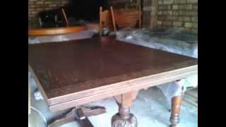 Carved Dining Table, Jaycee Furniture, Carved Legs And Table Edges, Made In England
